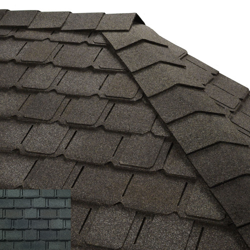 GAF Timbertex 20-lin ft Majestic Navy Laminated Hip and Ridge Roof Shingles