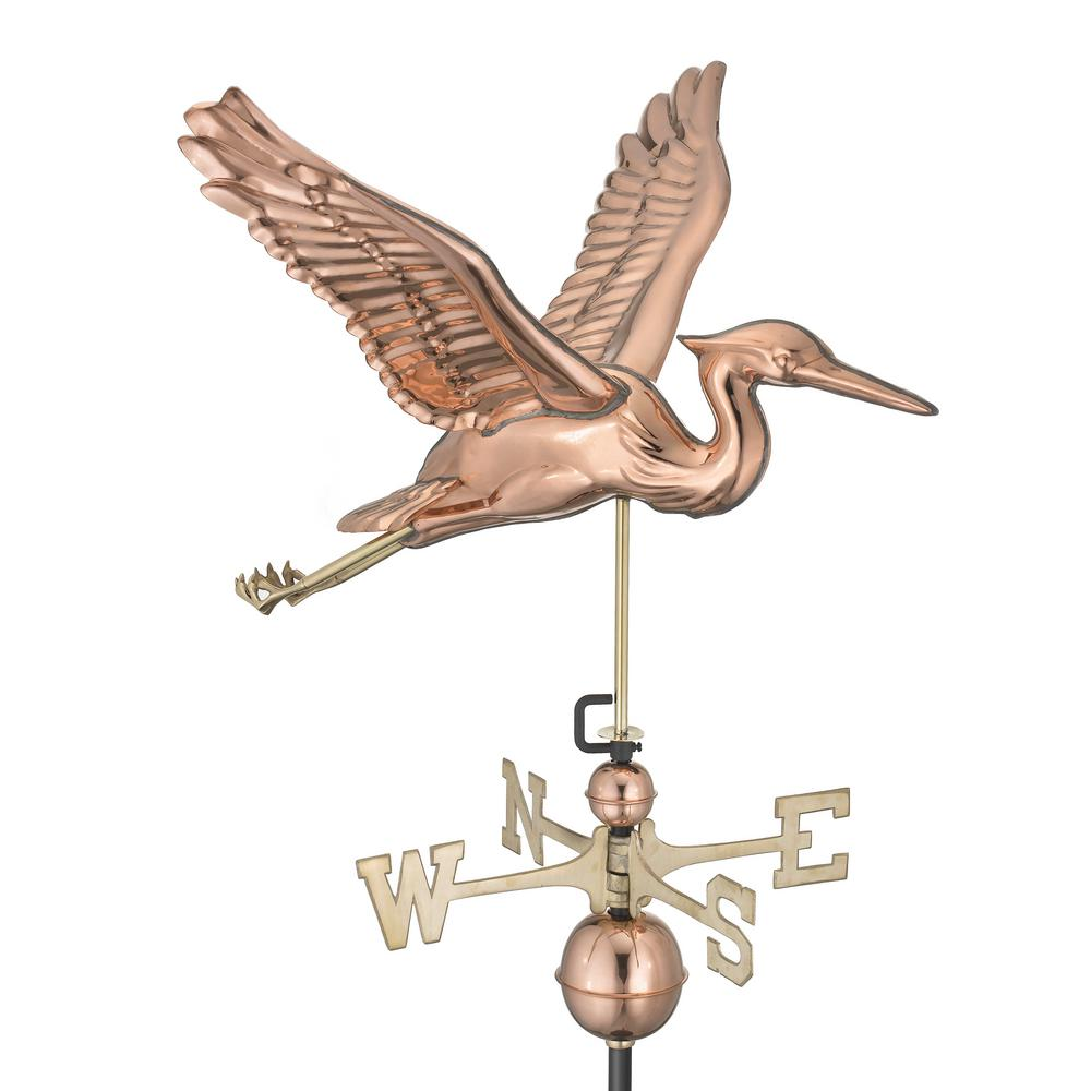 Blue Heron Weathervane - Pure Copper