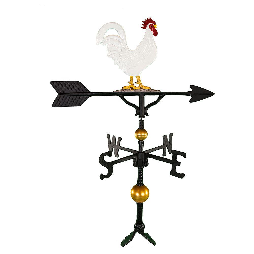 32 in. Deluxe Black Rooster Weathervane