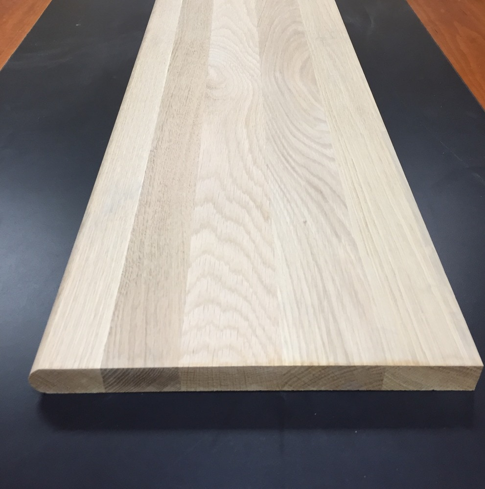 Walking Horse Plank Flooring Molding - Unfinished Hardwood Stair Tread/Unfinished Stair Tread / White Oak / 1-1/16' X 48' / Tread