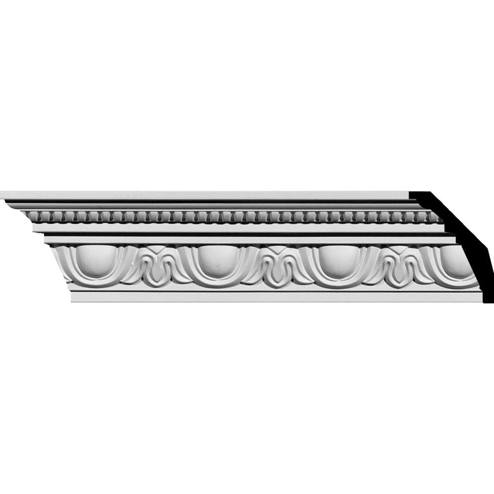 Ekena Millwork Polyurethane Crown Moldings/Edinburgh Crown Molding / 4'H x 2 3/8'P x 4 5/8'F x 94 5/8'L