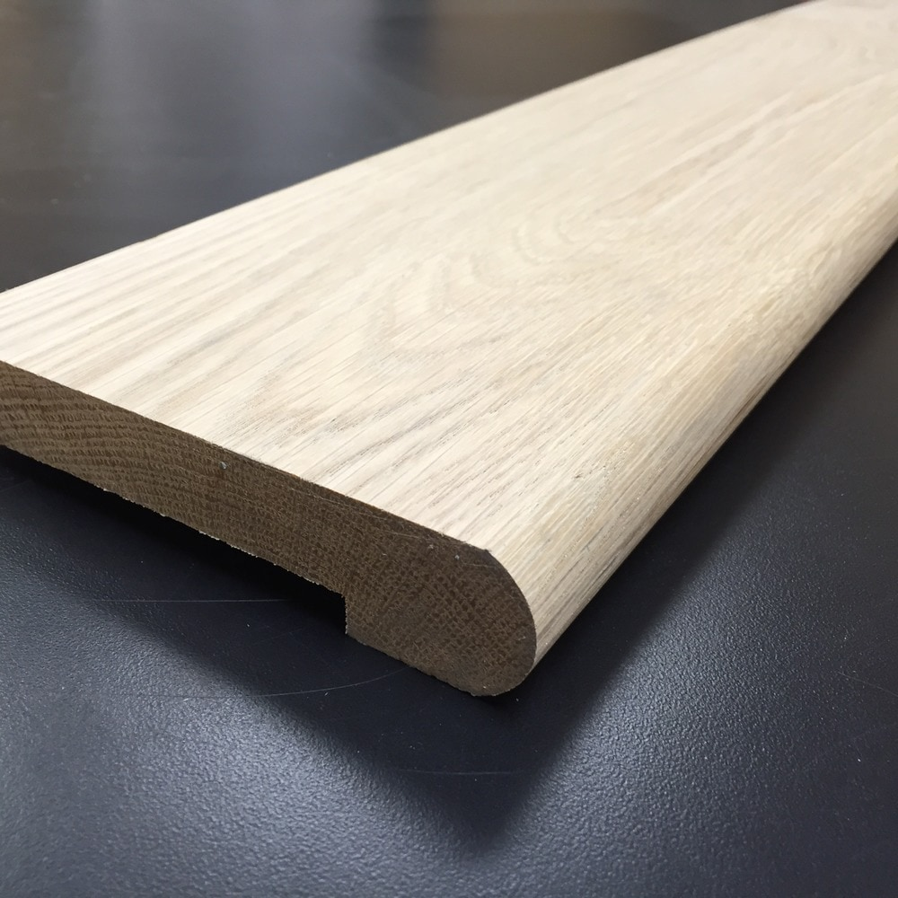 Walking Horse Plank Floor Molding - Unfinished Hardwood Floor Moldings/Stair Nosing / White Oak / 1-1/16' X 3-1/2' / Stair Nosing