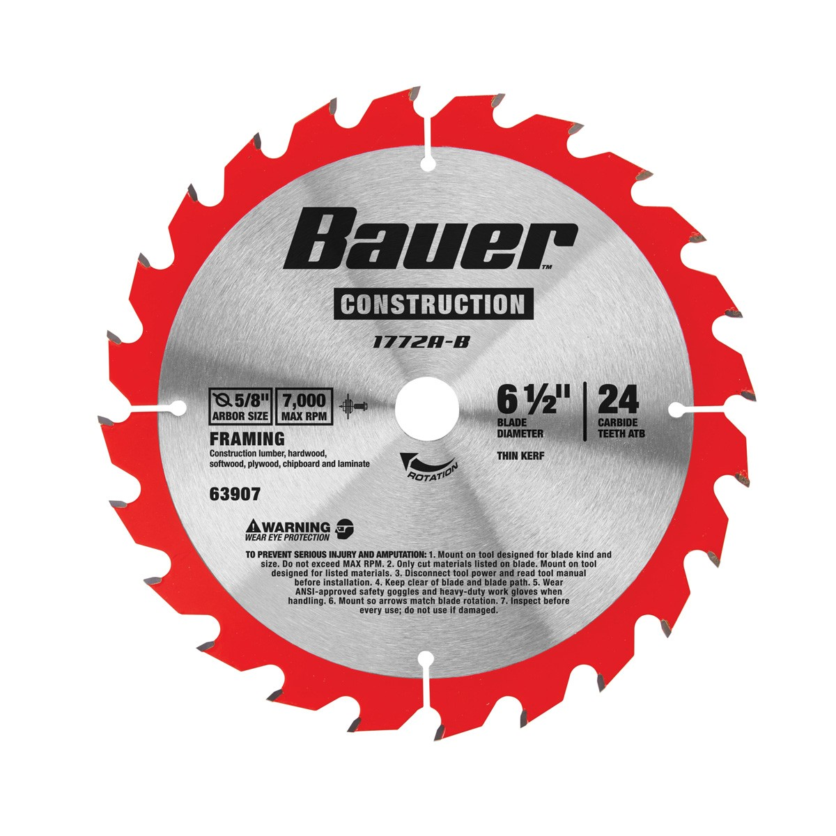 6-1/2 in. 24T Circular Saw Blade - Framing