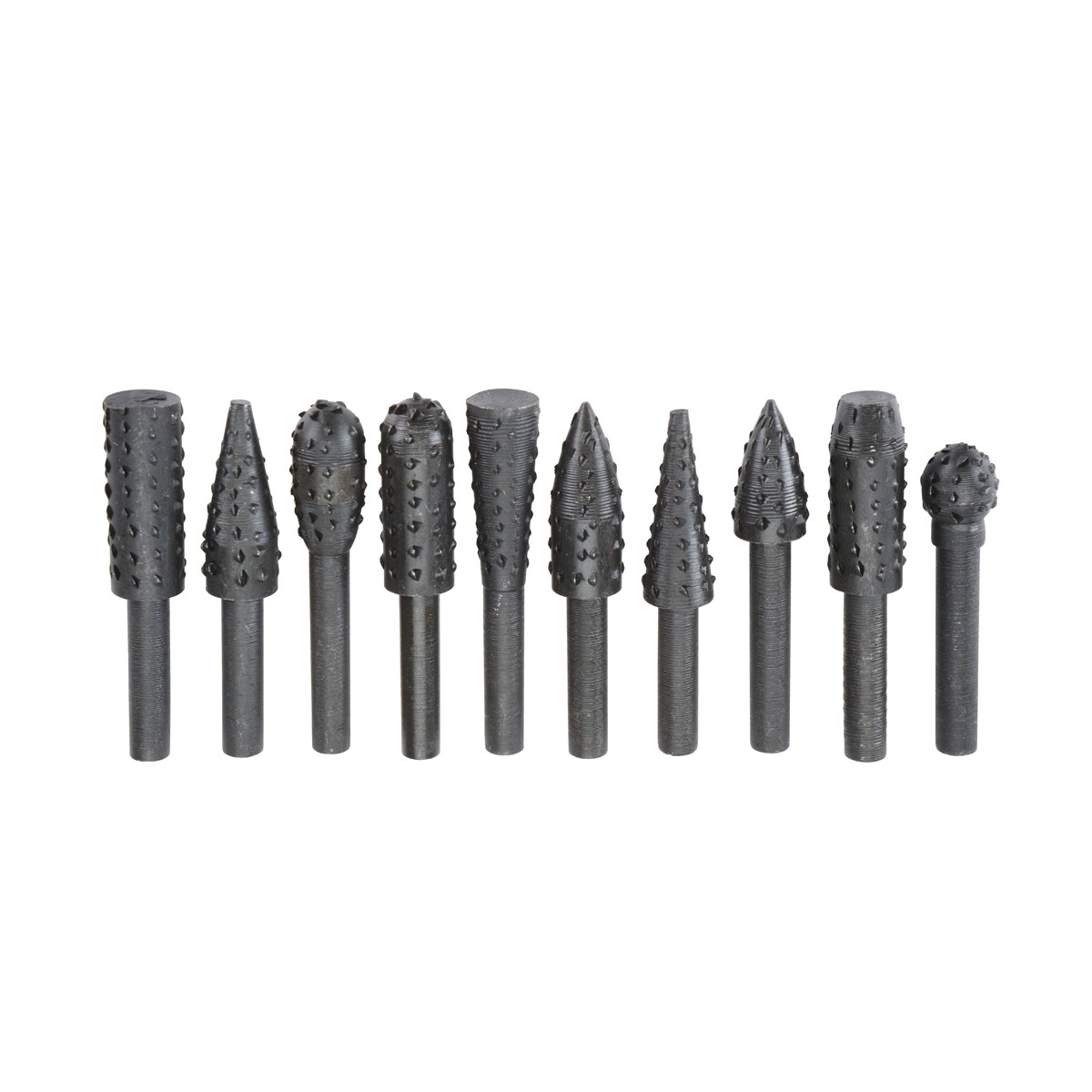 High Carbon Steel Rotary Rasp Set 10 Pc