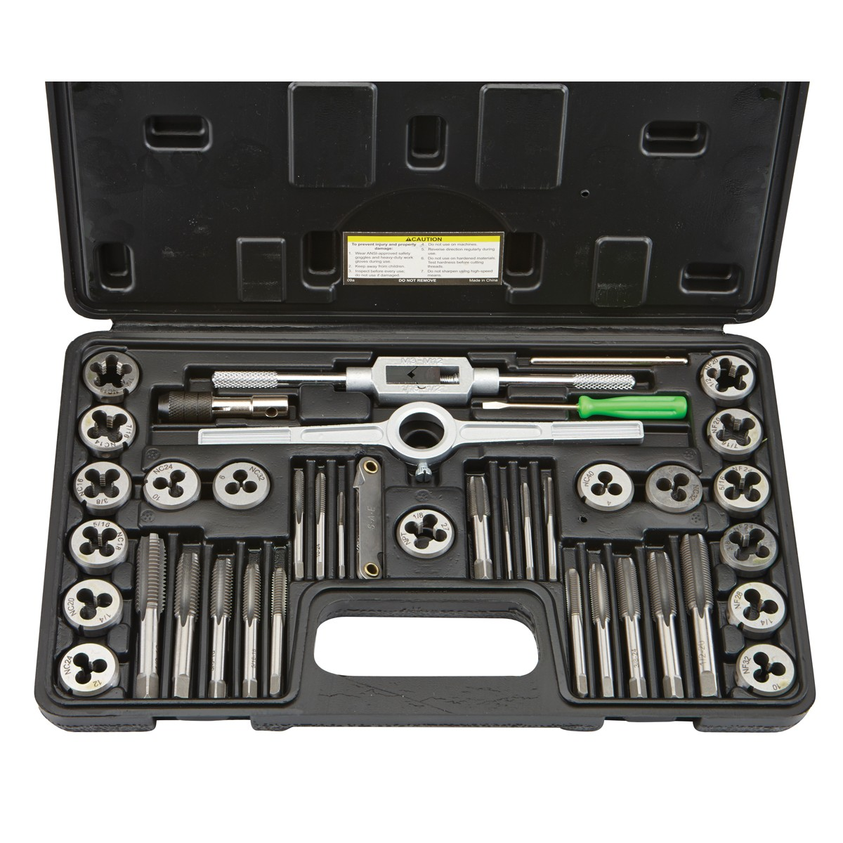 40 Pc Carbon Steel SAE Tap and Die Set