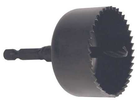 WESTWARD Hole Saw,Carbon Steel,2-1/2 in. Dia 45EG80